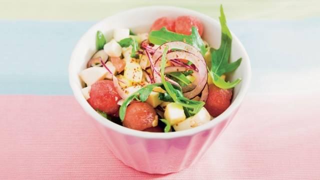 Salade de pastèque et mozzarella