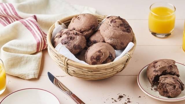 Pains sucrés chocolat et éclats de cacao