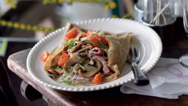 Galettes de sarrasin jambon-champignons