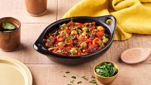 Chouchouka végétarienne aux tomates séchées