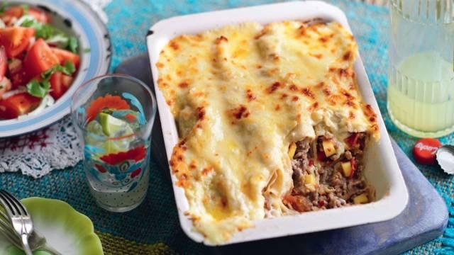 Enchiladas à la viande hâchée et mangue