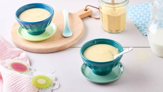 Semoule au lait de vanille