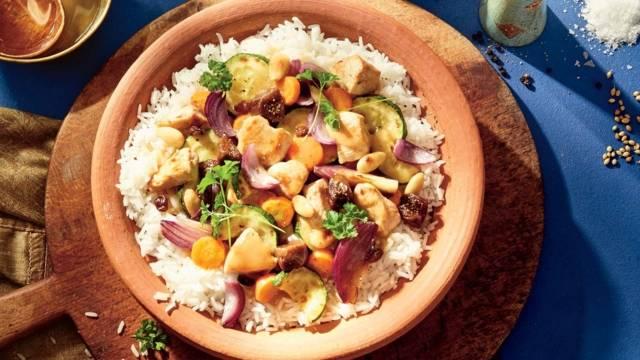 Tajine de poulet aux figues et légumes