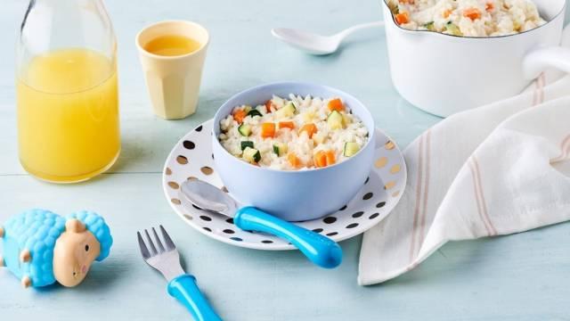 Risotto courgettes, carottes et parmesan