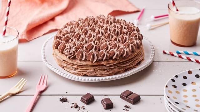 Gâteaux de crêpes chocolat-noisettes