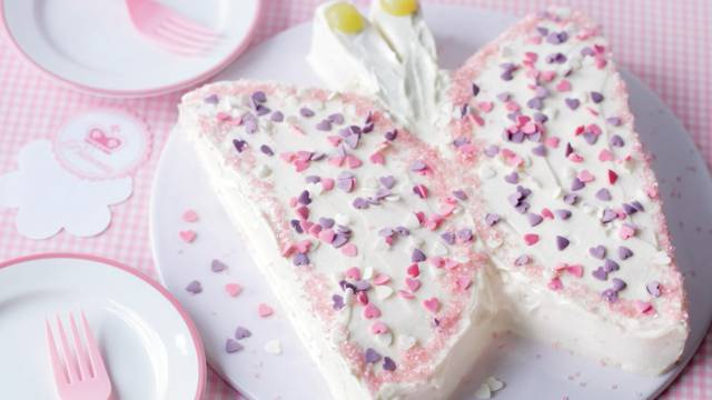 Gâteau papillon girly