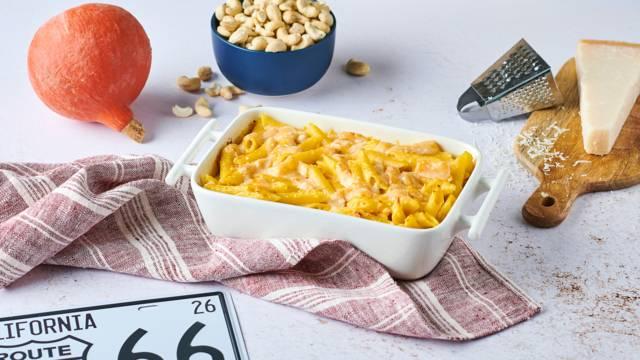Mac and cheese au potimarron et noix de cajou