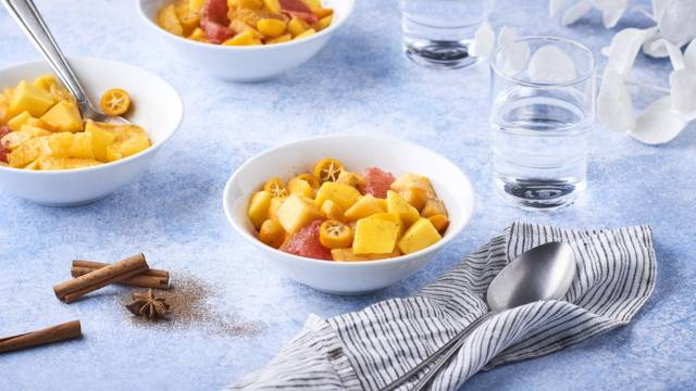 Salade fruits d'hiver à la cannelle et anis