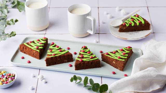 Brownies sapin de noël