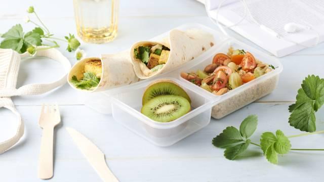 Lunch box vegan