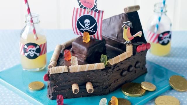 Gâteau bateau pirate