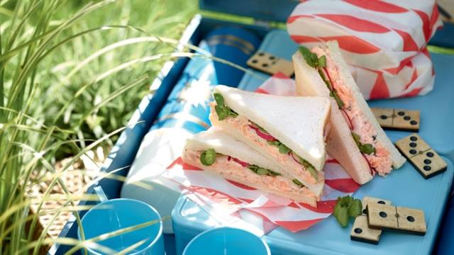 Club sandwich radis-truite-cresson