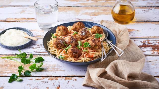 Boulettes de veau italiennes, ricotta et basilic