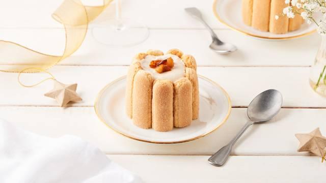 Mini charlotte à la crème de marron