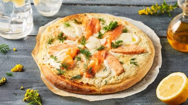 Pizza aux deux saumons