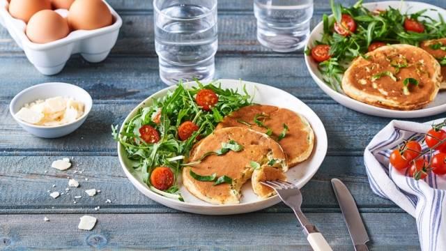 Pancakes épinards et Pecorino