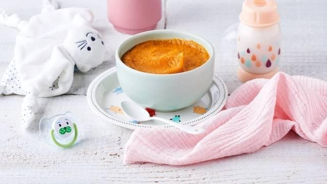 Crème dessert carotte, orange et banane