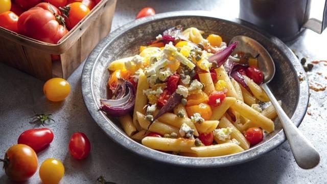 Pâtes aux tomates rôties