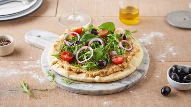 Pizza houmous