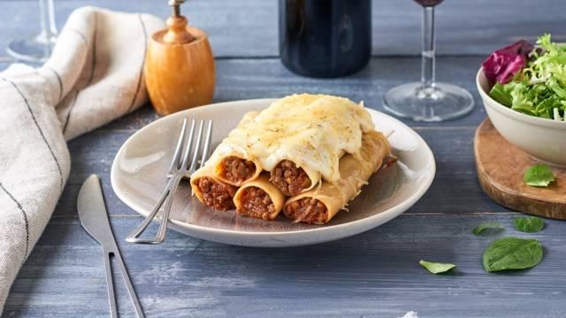 Cannelloni gratinés à la bolognaise