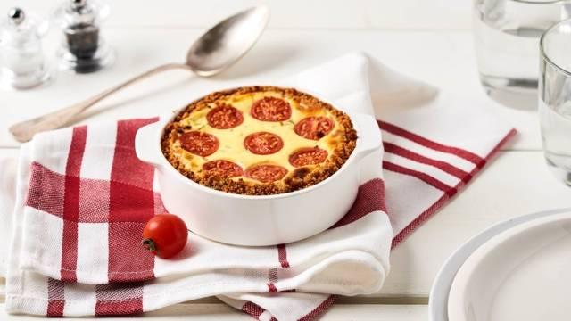 Cheesecake salé tomates-basilic