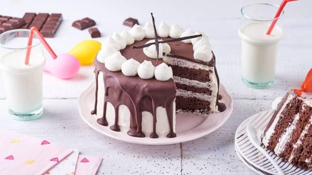 Layers cake choco-vanille