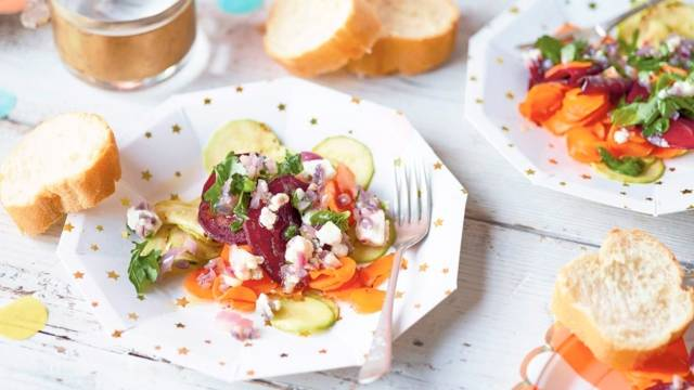 Légumes braisés et feta