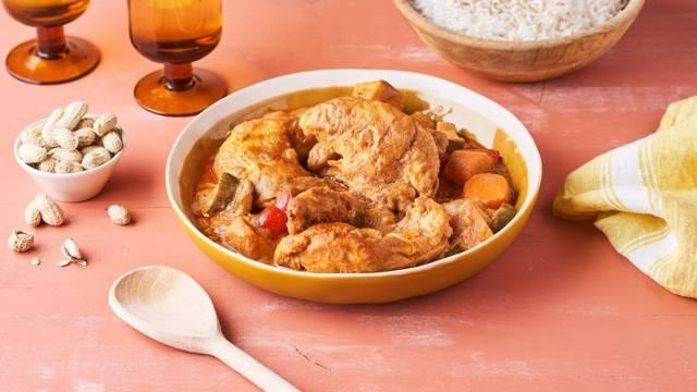 Mafé de poulet au beurre de cacahuète