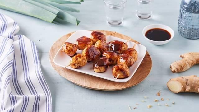 Brochettes boulettes de poulet