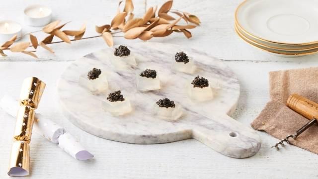 Gelée de champagne au caviar