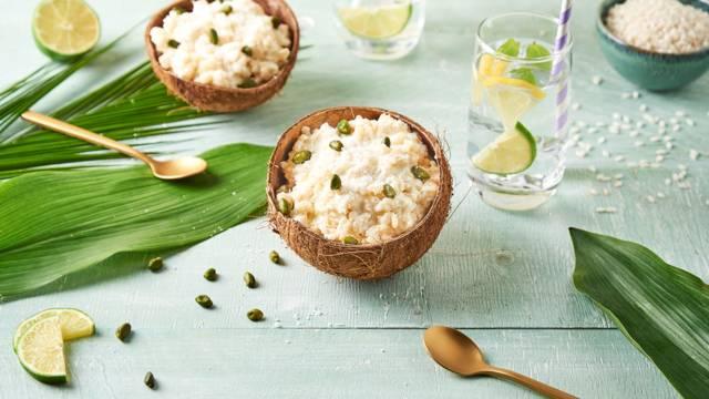 Riz au lait pistache et coco