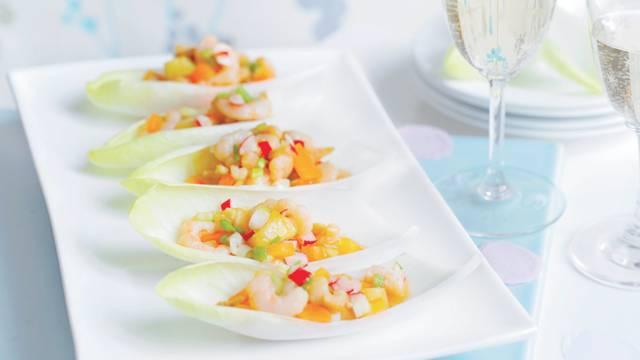 Bouchées d'endives aux crevettes