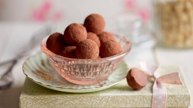 Truffes au chocolat et café