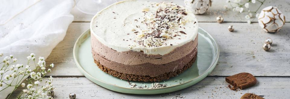 Cheesecake aux trois chocolats