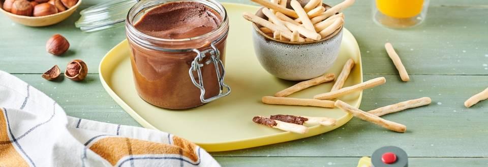 Pâte à tartiner chocolat et noisettes vegan