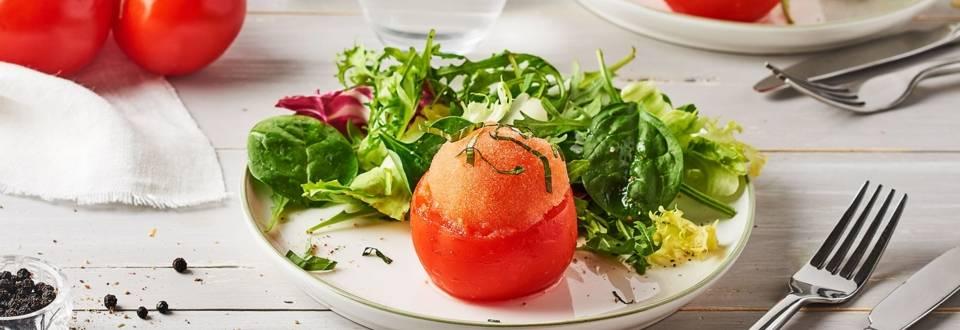 Sorbet salé tomate et basilic