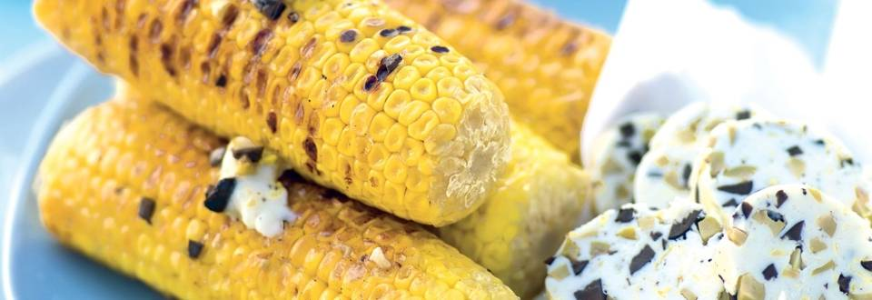Épis de maïs au beurre d'olives