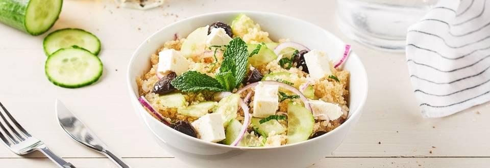 Salade de concombre, quinoa et feta