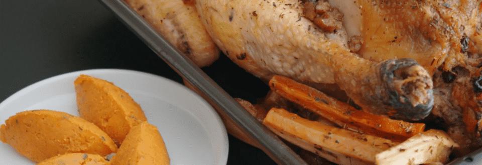 Volaille de Noël et purée de patates douce