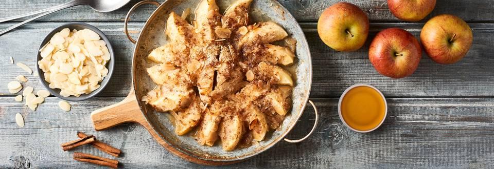 Pommes gratinées amandes et miel