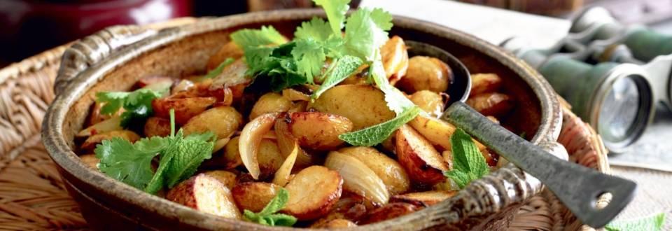 Pommes de terre et aubergines au four