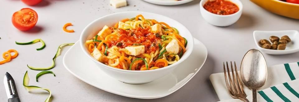 Spaghetti de légumes à la pizzaïola