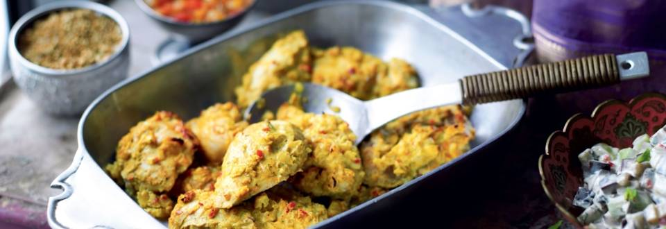 Poulet mariné tandoori