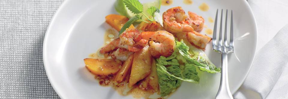 Crevettes rôties au gingembre