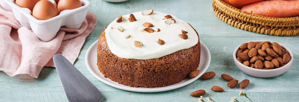 Carrot cake et nappage de chocolat blanc