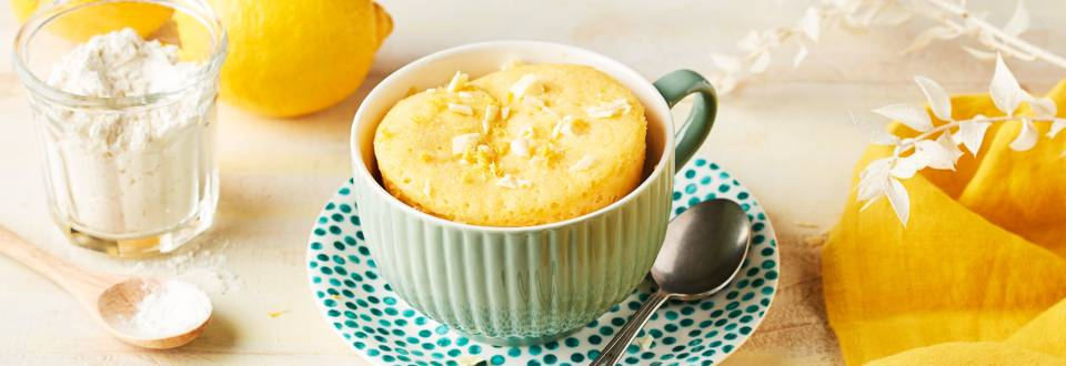 Mug cake chocolat blanc et citron