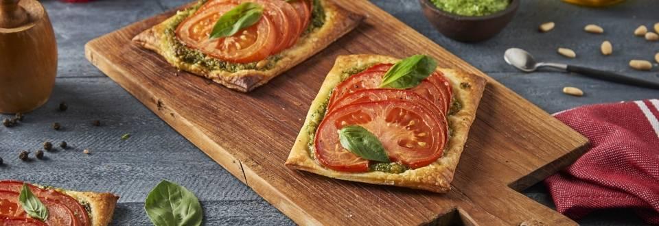 Tarte pesto maison et tomates