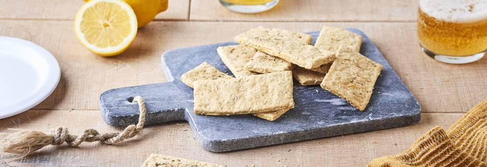 Crackers à la bière et aux graines de sésame