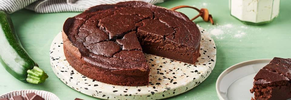 Fondant chocolat et courgette sans beurre