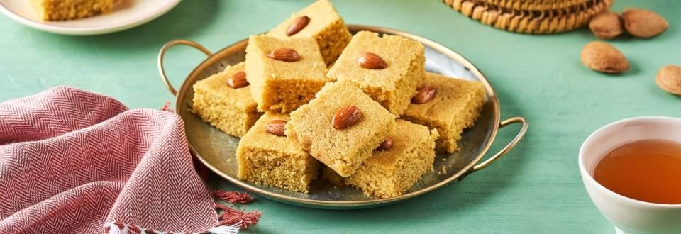 Gâteau de semoule aux amandes - Basboussa